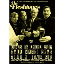 Poster THE FLESHTONES A Coruña, Spain 2017 . garage super rock rock and roll