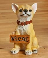 Welcome Sign Or Beware Dog Breed Statue Pet Lover Home Decor - Chihuahua