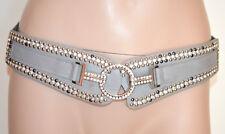 850879b00794 CEINTURE femme GRIS strass cristaux corset élastique éco cuir white belt G28