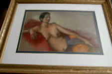 MARCIA BENNETT BOUTON (1919-2014 AMERICAN ) ORIGINAL NUDE PASTEL,EXC.COND.