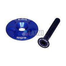 "A2Z Anodised Headset Top Cap 1 1/8"" Bike Steerer Compressor Aluminum, Blue"