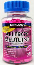 Kirkland Signature Allergy Relief Medicine Diphenhydramine HCI 25 mg 600 Minitab
