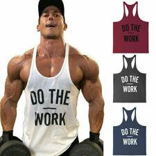 Men Gym Shirt Fitness Tank Top Workout Cotton Bodybuilding Vest Shirt Clothing