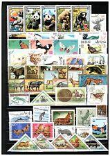 Set of 50 different stamps Animals, Birds, Fish, Tiere, Oiseaux, Butterflies S9
