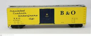 Bachmann Silver Series 'HO' 50' Plug-Door Box Car B&O Yellow w Blue