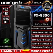 Ordenador Gaming PC AMD Fx8350 Octacore 16GB 2tb ASUS Gt1030 2GB OC de sobremesa
