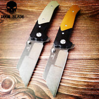 D2 Blade Ball Bearing Knives Folding Pocket Knife Combat Survival Tactical G10