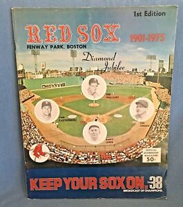 1975 BOSTON RED SOX OPENING DAY PROGRAM HANK AARON A.L. DEBUT