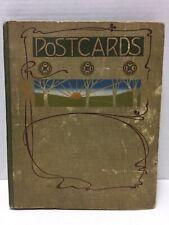 Vintage Postcard Album w/ 27 Vintage Postcards / Asian / European / American