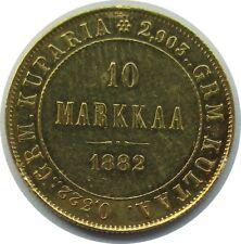 Selten! Finnland 10 Markkaa 1882 S, unter Zar Alexander III.