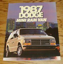 Original 1987 Dodge Mini Ram Van Deluxe Foldout Sales Brochure 87