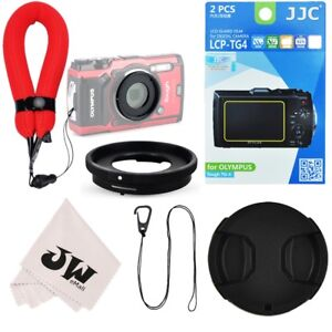 6in1 Lens Adapter+Wrist Strap+Screen Protector for Olympus TG-6 TG-5 TG-4 TG-3