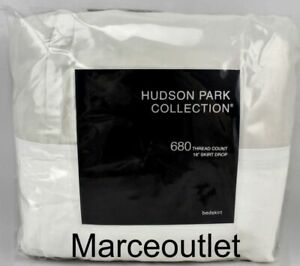 Hudson Park 680 Thread Count Supima Cotton Sateen QUEEN Bedskirt Silver