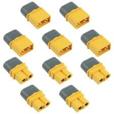 5 Pairs Male + Female XT60 Gold Plated Connector with Cap 30A Amass