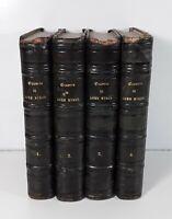 OUVRES COMPLÈTES DE LORD BYRON. 4 TOMOS. LIBR. CHARPENTIER. PARIS. 1840.