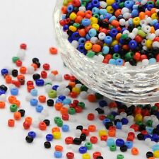 2800pcs 11/0 (2mm) Glass Seeds Opaque Mini Spacer Pony Beads Lustered Multicolor