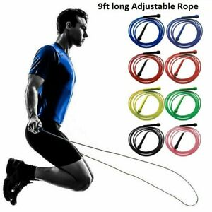 Adjustable Skipping Rope Jump Boxing Fitness Speed Rope Adult Kids Free P&P
