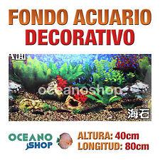 FONDO 80x40cm ACUARIO DECORATIVO VINILO PLANTAS MARINAS CALIDAD D428