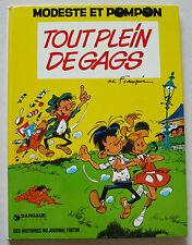 Modeste et Pompon Tout plein de Gags FRANQUIN éd Dargaud Nov 1973