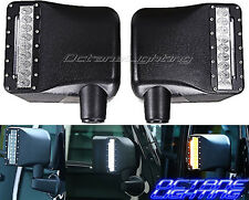 07-16 Jeep Wrangler Off Road Led Mirror w/ Turn Signal Lights By OCTANE LIGHTING