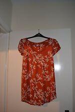 Ladies Next Orange floral summer top size 6
