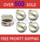 5 pcs Stainless Steel Gas Stove Burner Knobs for LG EBZ37189611 EBZ37189609 photo