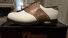 Vintage Footjoy Classics Tour Mens Golf Shoes 51273 New Wh 8.5Eee Usa Mfg!