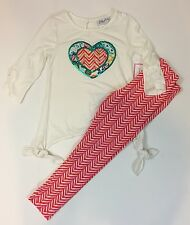 Emily Rose NWT 5 6 7 Boutique Sequins Heart Top Legging Outfit CUTE