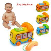 2020 Baby Toys Music Cartoon Bus Phone Educational Developmental Kids Toy Gift