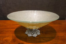 "OLIVIA RIEGEL Crystal ""Windsor"" Centerpiece Glass Bowl New in Box"