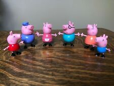 Peppa Pig and Family Deluxe Figure Figurines Set of 6 Grandpa Granny Exclusive