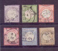 Dt. Reich 1872 - Kl. Brustschild - MiNr. 1/6 gestempelt - Michel 400,00 € (992)