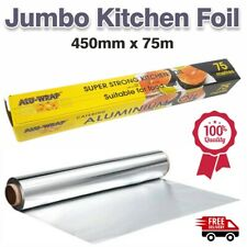 Kitchen Tin Foil Aluminium Roll Catering Wrapping Chicken Strong 450mm X 75meter