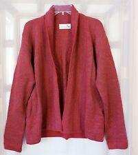 Alpaca Direct Women's Sz XXL Open Cardigan 100% Baby Alpaca Wool Red Geometric