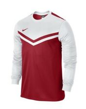Nike Men's Victory II MANICA LUNGA FOOTBALL SHIRT rosso/bianco SMALL S