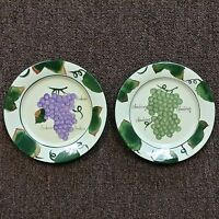 2 Style Eyes by Baum Bros Wine Grapes Salad, Dessert, Side Plate 8-1/4""