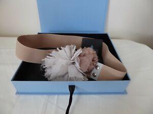 Lanvin Elastic Belt, New. original price over £400 Beige Flower Box & label.