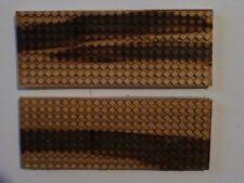 03  NEW Stabilized Ambrosia Maple Laser Cut Checker  Design Knife Scales 2x5x1/4