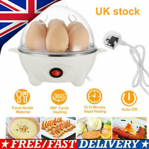 Egg Boiler Cooker Poacher Steamer Electric Boiled 7 Eggs Maker UK