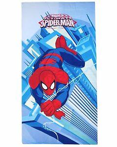 Beach Towel Microfibre Spiderman 70x140 Original Marvel Swimming Pool Beach Kids