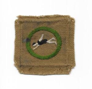 BSA SWIMMING Merit Badge Type B EXCELLENT  A00105 1934-1935