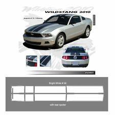 Ford Mustang 2010-2012 Wildstang Dual Stripe Graphic Kit - Bright White