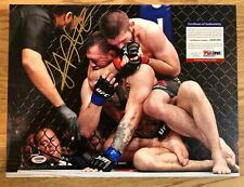 Khabib Nurmagomedov Autographed 12x16 Canvas MMA UFC PSA/DNA Authentic