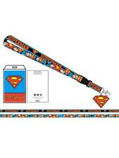 OFFICIAL DC COMICS - SUPERMAN CHARACTER AND SYMBOL PRINTED LANYARD (BRAND NEW)