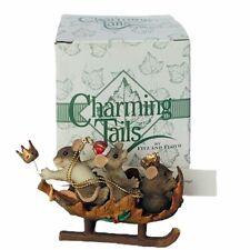 Charming Tails figurine fitz floyd Box mouse anthropomorphic Wee Three Kings Nib