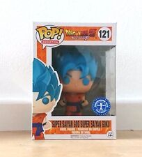 Funko Estatuilla de DRAGON BALL Z - Súper SON GOKU GOD Azul Exclusivo POP