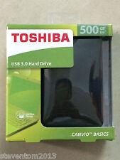 Toshiba  500GB Canvio Basics  USB3.0 Portable External Hard Disk Drive Black