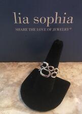 """New! Lia Sophia """"Structure"""" Silver Tone Ring - Size 7"""