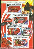 GUINEA  2015 FIRE ENGINES  SHEET  MINT NH