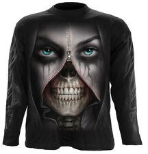 SPIRAL DIRECT ZIPPED Long Sleeve T-Shirt/Tattoo/Horror/Skull/Goth/Evil/Top/Tee